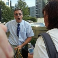 Street Preacher Calling for my Repentance at Pride Charlotte 2011