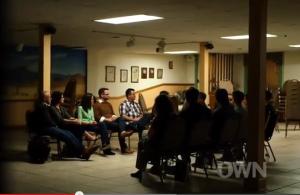 The Exodus survivors confront Exodus President Chambers