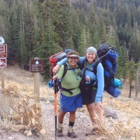 Netto & Kathy finishing the Tahoe Rim Trail, 165 miles