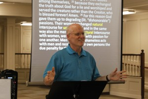 Brownson teaching at The Reformation Project