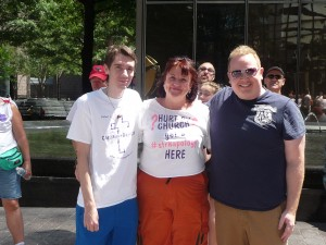 With Michael and Beau at Charlotte Pride