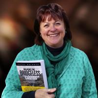 Kathy Baldock walking the Bridgeless Canyon