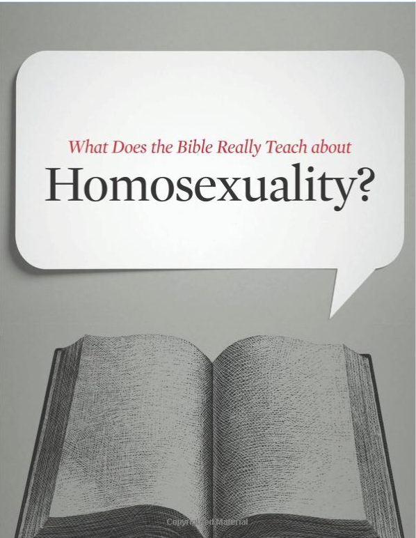 If an author refuses to address the subject of the intersection of faith  with sexual orientation