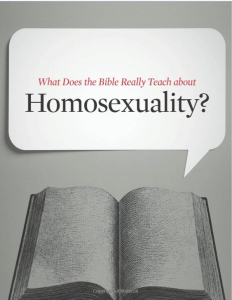 Kevin DeYoung's What Does the Bible Really teach About Homosexuality?