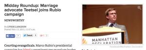 Marco Rubio hires Eric Teetsel