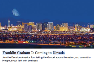 Franklin Graham Decision America Tour in Nevada