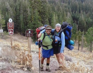 Netto & Kathy finishing the 165 mile Tahoe Rim Trail